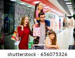 happy family shopping   Shutterstock . vector #656075326