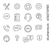 help center  thin monochrome... | Shutterstock .eps vector #656076985