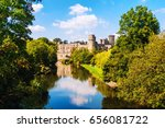 warwick  uk. avon river in... | Shutterstock . vector #656081722