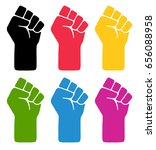 vector fist symblos. six... | Shutterstock .eps vector #656088958