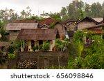 village near the besakih temple ... | Shutterstock . vector #656098846