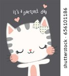 Cute Cat Vector Cute Cat...