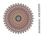 color floral mandala  vector... | Shutterstock .eps vector #656105995