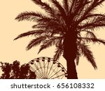 palm tree in a water park | Shutterstock .eps vector #656108332