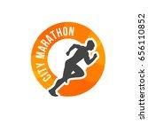 running man silhouette ...   Shutterstock .eps vector #656110852
