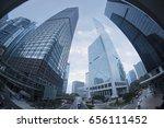 fisheye view of building in... | Shutterstock . vector #656111452