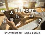 technical support. customer... | Shutterstock . vector #656111536