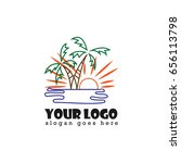 beach resort design logo | Shutterstock .eps vector #656113798