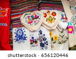 the typical andean fabrics sold ... | Shutterstock . vector #656120446