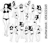 set of many black vector...   Shutterstock .eps vector #656122165