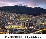 night view of quito  ecuador   Shutterstock . vector #656122186