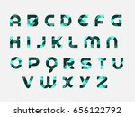 creative triangle alphabet | Shutterstock .eps vector #656122792