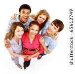 group of happy joyful friends... | Shutterstock . vector #65612749