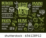 vegan food menu for restaurant... | Shutterstock .eps vector #656128912