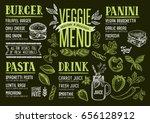 vegan food menu for restaurant... | Shutterstock .eps vector #656128912