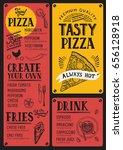 pizza food menu for restaurant... | Shutterstock .eps vector #656128918