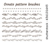 Set Of Ornament Brush Patterns...