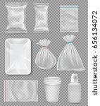 big set of polypropylene... | Shutterstock .eps vector #656134072