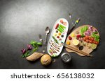 food creativity palette with... | Shutterstock . vector #656138032