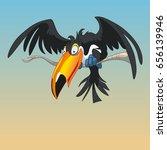 toucan cartoon on a branch | Shutterstock .eps vector #656139946