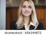 close up portrait of a smiling... | Shutterstock . vector #656144872