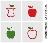apples icons | Shutterstock .eps vector #656145826