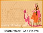 vector design of indian man... | Shutterstock .eps vector #656146498