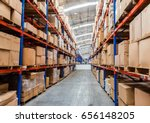 Small photo of Warehouse storage of retail merchandise shop.