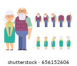 grandfather and grandmother... | Shutterstock .eps vector #656152606
