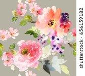 seamless summer pattern with... | Shutterstock . vector #656159182