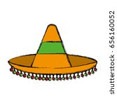 mexican hat icon | Shutterstock .eps vector #656160052