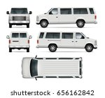 white suv vector mock up for... | Shutterstock .eps vector #656162842