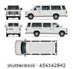 passenger van vector template... | Shutterstock .eps vector #656162842
