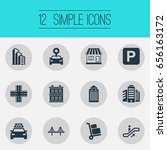 vector illustration set of... | Shutterstock .eps vector #656163172
