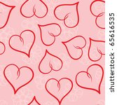 valentine's day abstract... | Shutterstock . vector #65616535