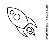 space rocket icon | Shutterstock .eps vector #656165686