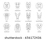 set  collection of isolated... | Shutterstock .eps vector #656172436