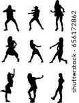 hip hop dancer silhouette on... | Shutterstock .eps vector #656172862