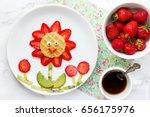 strawberry flower fun food for...   Shutterstock . vector #656175976