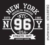 new york  brooklyn typography... | Shutterstock .eps vector #656188582