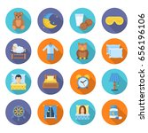 time to sleep vector icons in a ... | Shutterstock .eps vector #656196106