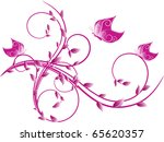 abstract floral background. | Shutterstock .eps vector #65620357