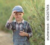 portrait of a funny boy in... | Shutterstock . vector #656207656