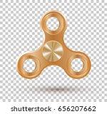 hand spinner flat vector... | Shutterstock .eps vector #656207662