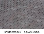 roofing shingles black and gray ... | Shutterstock . vector #656213056