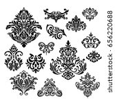 set of ornamental vector damask ...   Shutterstock .eps vector #656220688