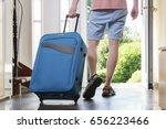 tourist young man in t shirt ... | Shutterstock . vector #656223466