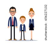 office style dressed family.... | Shutterstock .eps vector #656227132