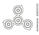 spinner for a hand. stress... | Shutterstock .eps vector #656231212