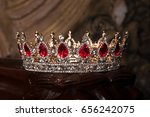 Royal Crown With Red Gems. Rub...